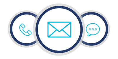 Email, phone, chat Icon